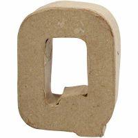 Lettera, Q, H: 10 cm, L: 7,8 cm, spess. 1,7 cm, 1 pz