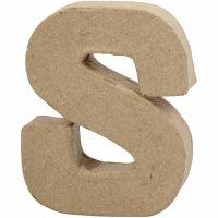 Lettera, S, H: 10 cm, L: 8 cm, spess. 1,7 cm, 1 pz