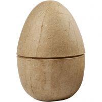 Uovo in due parti, H: 12 cm, diam: 9 cm, 1 pz
