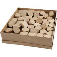 Mini scatole, H: 3 cm, diam: 4-6 cm, 144 pz/ 1 conf.