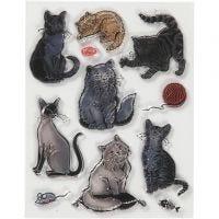 Motivi in silicone, gatti, misura 14x18 cm, 1 fgl.