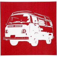 Scheda stencil, bus, 20x22 cm, 1 fgl.