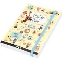 Libro stickers, misura 11,5x17 cm, 1 pz