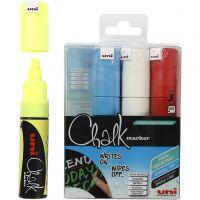 Chalk Pen, ampiezza tratto 8 mm, colori asst., 4 pz/ 1 conf.