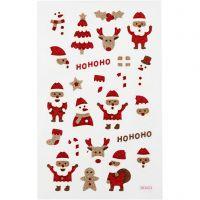 Adesivi glitterati, Babbo Natale, 10x16 cm, 1 fgl.
