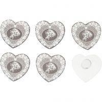 Stickers in legno, diam: 35 mm, 6 pz/ 1 conf.