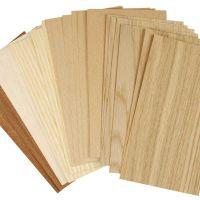 Impliallacciatura di bamboo, 12x22 cm, spess. 0,75 mm, 30 fgl. asst./ 1 conf.