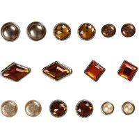Rivetti decorativi, misura 8-18 mm, marrone, 16 pz/ 1 conf.