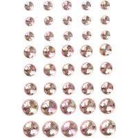 Diamanti sintetici, misura 6+8+10 mm, rosa, 40 pz/ 1 conf.
