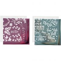 Deco Foil e fogli trasferibili, primavera, 15x15 cm, azzurro, rosa, 2x2 fgl./ 1 conf.