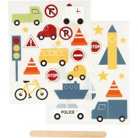 Sticker da strofinare, trasporti, 12,2x15,3 cm, 1 conf.