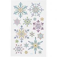 Stickers diamanti, fiocchi di neve, 10x16 cm, 1 fgl.