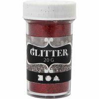 Glitter, rosso, 20 g/ 1 vasch.
