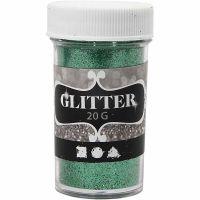 Glitter, verde, 20 g/ 1 vasch.