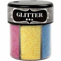 Glitter, colori asst., 6x13 g/ 1 vasch.