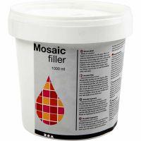 Stucco per mosaico, bianco, 1000 ml/ 1 secch.
