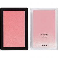 Tampone inchiostrato, H: 2 cm, misura 9x6 cm, rosato chiaro, 1 pz