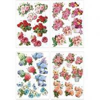Motivi decoupage 3D, fiori , 21x30 cm, 4 fgl./ 1 conf.
