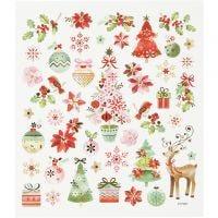 Stickers, Natale romantico, 15x16,5 cm, 1 fgl.
