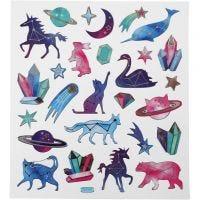 Stickers, Animali segno zodiacale, 15x16,5 cm, 1 fgl.