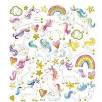 Stickers, unicorno, 15x16,5 cm, 1 fgl.
