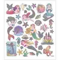 Stickers, sirene, 15x16,5 cm, 1 fgl.