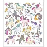 Stickers, unicorni, 15x16,5 cm, 1 fgl.