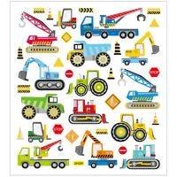 Stickers, macchine da cantiere, 15x16,5 cm, 1 fgl.