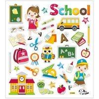 Stickers, scuola, 15x16,5 cm, 1 fgl.