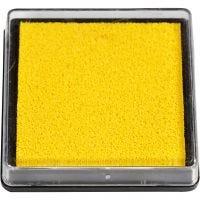 Tampone di inchiostro per timbri, misura 40x40 mm, giallo, 1 pz