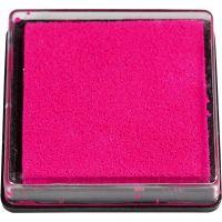 Tampone di inchiostro per timbri, misura 40x40 mm, rosa, 1 pz