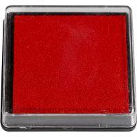 Tampone di inchiostro per timbri, misura 40x40 mm, rosso, 1 pz