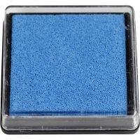 Tampone di inchiostro per timbri, misura 40x40 mm, azzurro, 1 pz