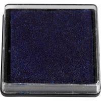 Tampone di inchiostro per timbri, misura 40x40 mm, blu scuro, 1 pz