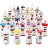 Colore per vetro, colori asst., 25x90 ml/ 1 conf.