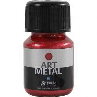 Vernice hobby metallizzata, lava red, 30 ml/ 1 bott.