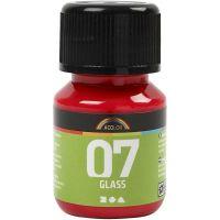 A-Color Glass , rosso, 30 ml/ 1 bott.