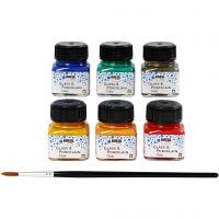 Vernice per vetro e porcellana, colori asst., 6x20 ml/ 1 conf.