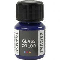 Colore trasparente per vetro, blu brillante, 30 ml/ 1 bott.