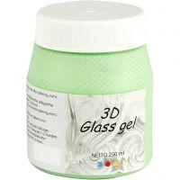 Gel 3D per vetro, verde, 250 ml/ 1 vasch.