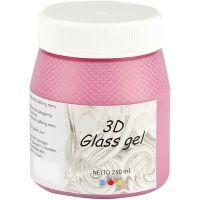Gel 3D per vetro, rosa, 250 ml/ 1 vasch.