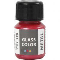 Colore metallico per vetro, rosso, 30 ml/ 1 bott.