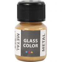 Colore metallico per vetro, oro, 30 ml/ 1 bott.