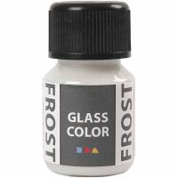 Colore satinato per vetro, bianco, 30 ml/ 1 bott.