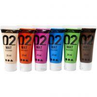 Pittura acrilica opaca per la scuola, opaco, colore aggiuntivo, 6x20 ml/ 1 conf.