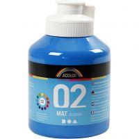 Pittura acrilica opaca per la scuola, opaco, blu primario, 500 ml/ 1 bott.
