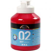 Pittura acrilica opaca per la scuola, opaco, rosso primario, 500 ml/ 1 bott.