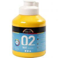 Pittura acrilica opaca per la scuola, opaco, giallo, 500 ml/ 1 bott.