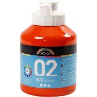 Pittura acrilica opaca per la scuola, opaco, arancio, 500 ml/ 1 bott.