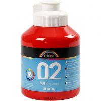 Pittura acrilica opaca per la scuola, opaco, rosso, 500 ml/ 1 bott.